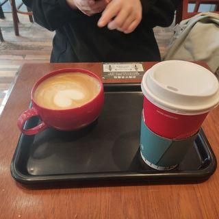 モーニング ホットコーヒー サイズアップ