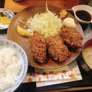カキフライ定食(三友 )