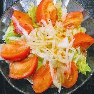 トマトサラダうどん(三国一 西口店 (さんごくいち))