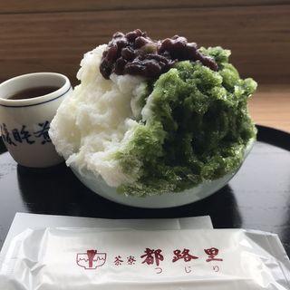 円山しぐれ あいがけ(茶寮都路里 大丸東京店 (さりょうつじり))