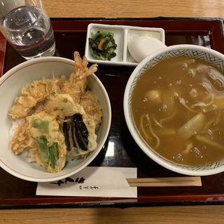 ミニ天丼と伊達鶏カレー(そば・うどん)(さん竹 (さんたけ))