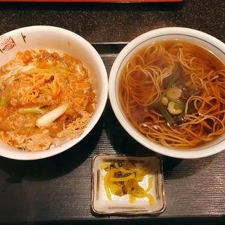 ハイカラ丼そば吸付き(信州そば )