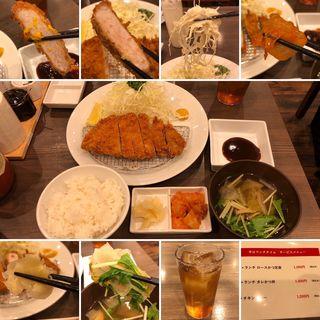 ランチロースかつ定食(カツとカレーの店 ジーエス)