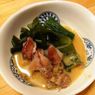 季節の酢の物(ホタルイカと赤水菜)
