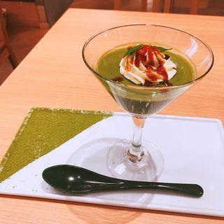 抹茶ライスミルクプリン(木と水と土と 表参道店)