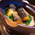 鮭の土鍋ご飯(浅草 海月)