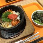 めんたいと大葉の石焼ビビンバ  サラダセット(あんにょんゆめタウン博多店)