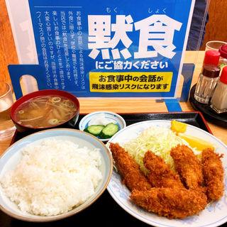 カキフライ定食(味のふたば )