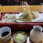 天ぷら付きへぎそば