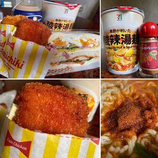 ファミチキ+酸辣湯麺