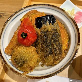 ヒレカツと野菜カツ丼(新潟カツ丼 タレカツ 神保町すずらん通り店)