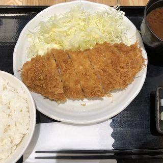 ロースかつ定食(とんかつ まるや 大手町店 )