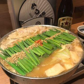 和牛もつ鍋 みそ味(博多もつ鍋 前田屋 大名店)