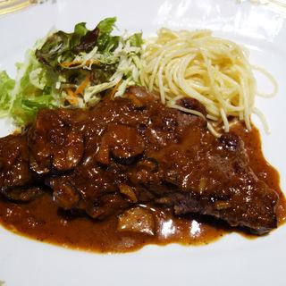 牛サーロインステーキ200g シャリアピンソース ライス付き(ふらんす亭)