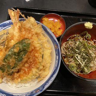 にぎわい天丼(冷たいそば付き)