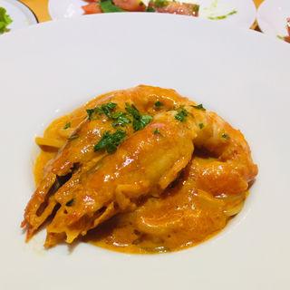 赤海老のトマトクリームスパゲッティ