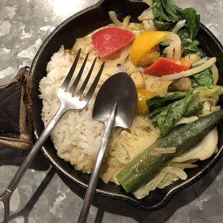 1日分の野菜カレー タイ風グリーンカレー