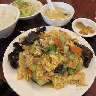 豚肉玉子キクラゲ炒めセット(順順餃子房 馬喰町店 )