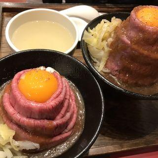黒毛和牛のローストビーフ丼定食(ローストビーフ大野 原宿店)