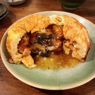 ダッチオーブンで焼くうなぎ玉子焼(小)(焼売酒場 小川)
