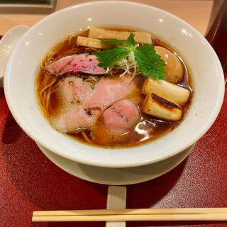 味玉紀州鴨そば(燃えよ麺助)
