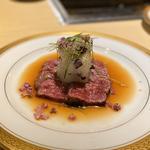 神戸牛タタキ 自家製ポン酢