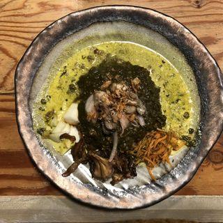 ほうれん草と牡蠣のキーマカレー(さぼてん食堂 )