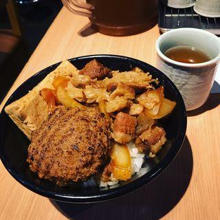 ハンバーグ肉めし(新橋 岡むら屋 )