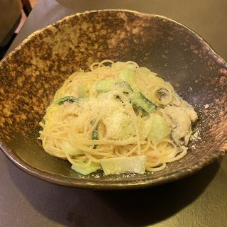 牡蠣と小松菜のクリームソース(Libra)