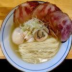 鶏そば(味変なし)+味玉とイベリコ豚チャーシュー