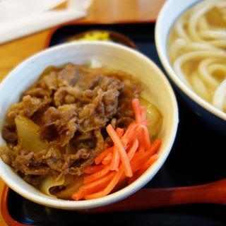 ミニ牛丼セット(因幡うどん 渡辺通店)