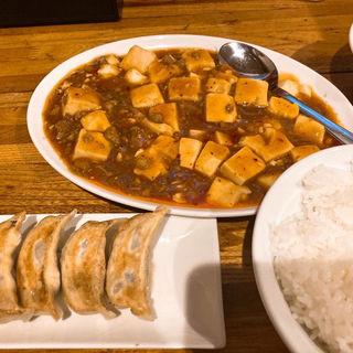 麻婆豆腐、餃子、ごはん(中華亭 )