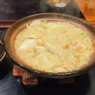 野菜たっぷり白味噌うどん(うちたて家)