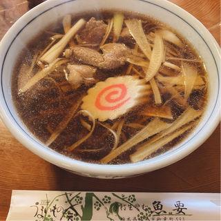 鴨南蛮そば(魚要)
