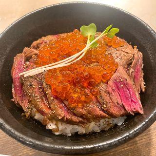 にくら丼(肉増し)(ステーキハウス ロマン亭~オンス~ 新大阪店 )