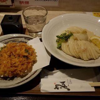 桜海老と生醤油うどん(ひだりうま )