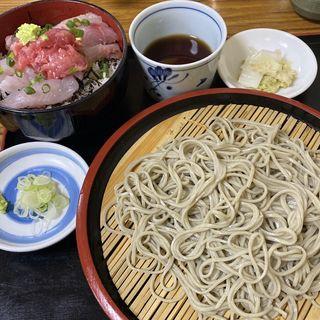 海鮮丼とざる蕎麦セット(越佐庵須坂屋そば 日本橋店 (【旧店名】越佐庵))