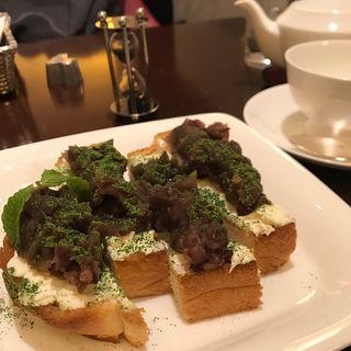 小倉あんトースト(キハチ カフェ 名古屋名鉄店 (KIHACHI CAFE))