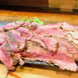 ローストビーフ(もつ焼 まるい)