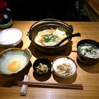 牛すき焼き定食(和食 たかもと )