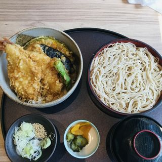 金目鯛と野菜の天丼 十割半せいろセット  (はな膳 夏見店)