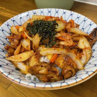 鶏キムチ焼肉丼