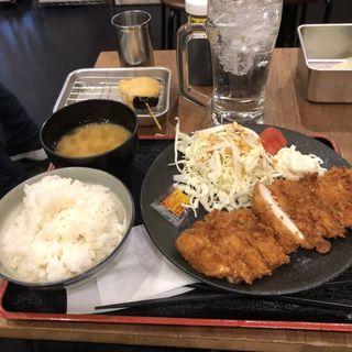 無料レモンサワー チキンカツ定食(串かつ でんがな 姫路店 )