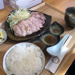 ローストポーク定食(自家製麺と定食 弦乃月)