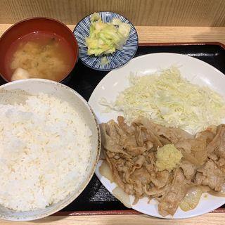 生姜焼き定食(みそダレ)大大(笑姜や)