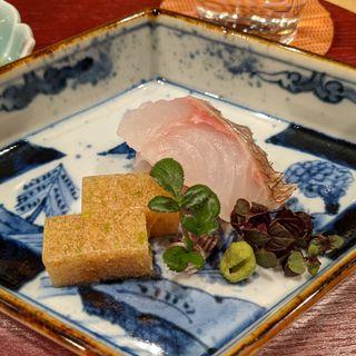 淡路島産鯛、鯛の煮凝り(旬恵庵 あら垣)