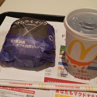 炙り醤油風ダブル肉厚ビーフ、コカ・コーラSサイズ(マクドナルド 稲沢アピタ店 )