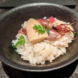 富山ホタルイカの土鍋ご飯(SECRETO)
