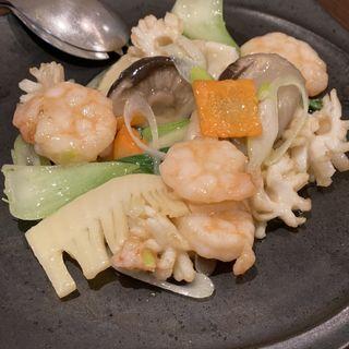 海鮮と野菜のあっさり塩炒め