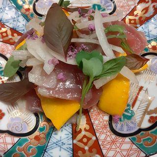 諸島鮮魚のシンプルマリネ(和フレンチ Komorebi)